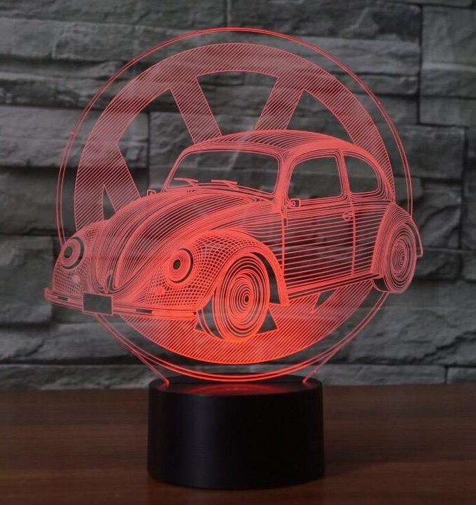 VW Beetle 3D Illusion Led Lamp