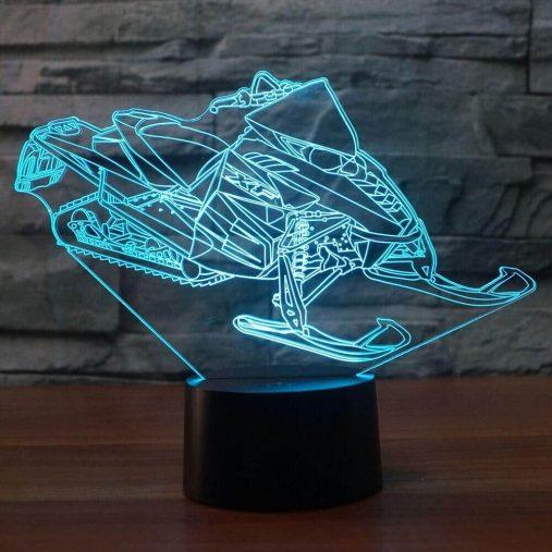 Snowmobile 3D Illusion Led Lamp