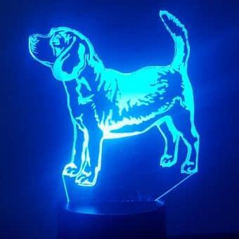 Beagle 3D Illusion Lamp