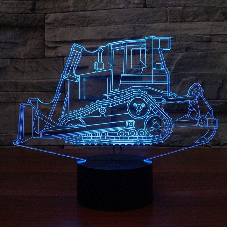 Bulldozer 3D Illusion Led Lamp