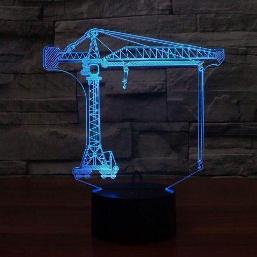 Construction Crane 3D Illusion Led Lamp