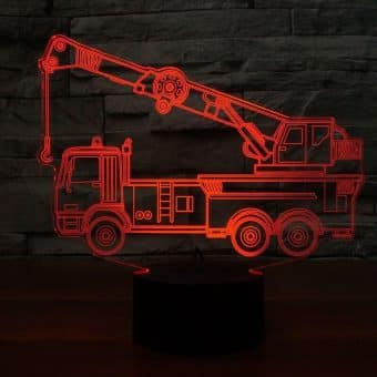 Crane Truck 3D Illusion Led Lamp