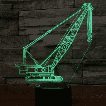 Crawler Crane 3D Illusion Led Lamp