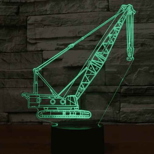 Crawler Crane 3D Illusion Led Lamp
