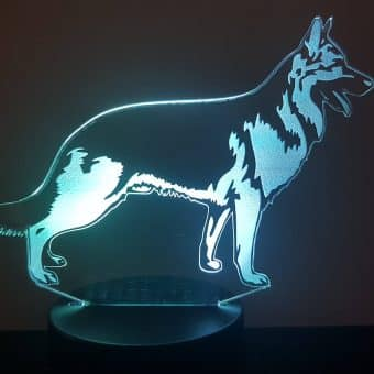 German Shepherd 3D Illusion Lamp