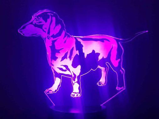 Dachshund 3D Illusion Lamp