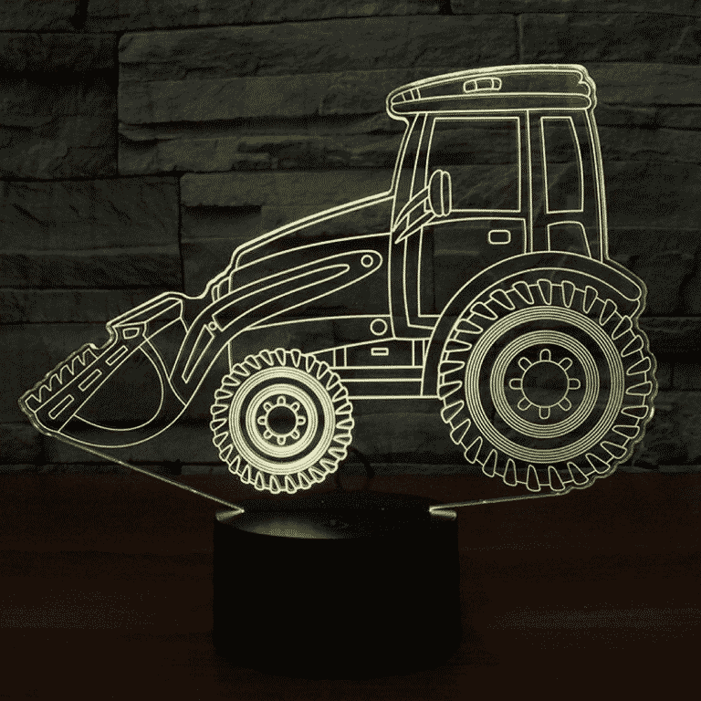 Tractor Loader 3D Illusion Led Lamp