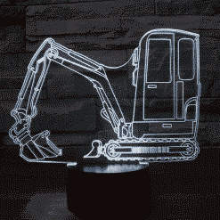 Mini Excavator 3D Illusion Led Lamp