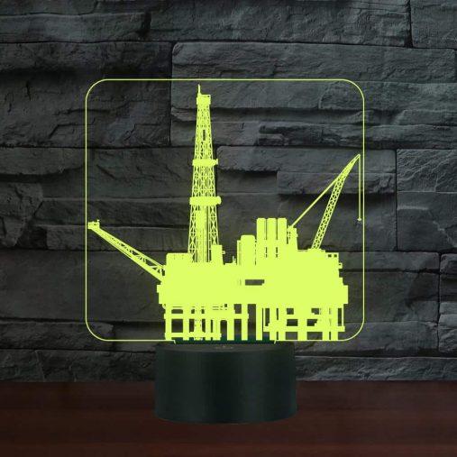 Offshore platform 3D Illusion Led Lamp