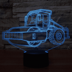 Road Roller 3D Illusion Led Lamp