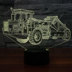 Scraper 3D Illusion Led Lamp