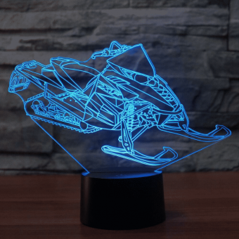 Snowmobile 3D Illusion Led Lamp