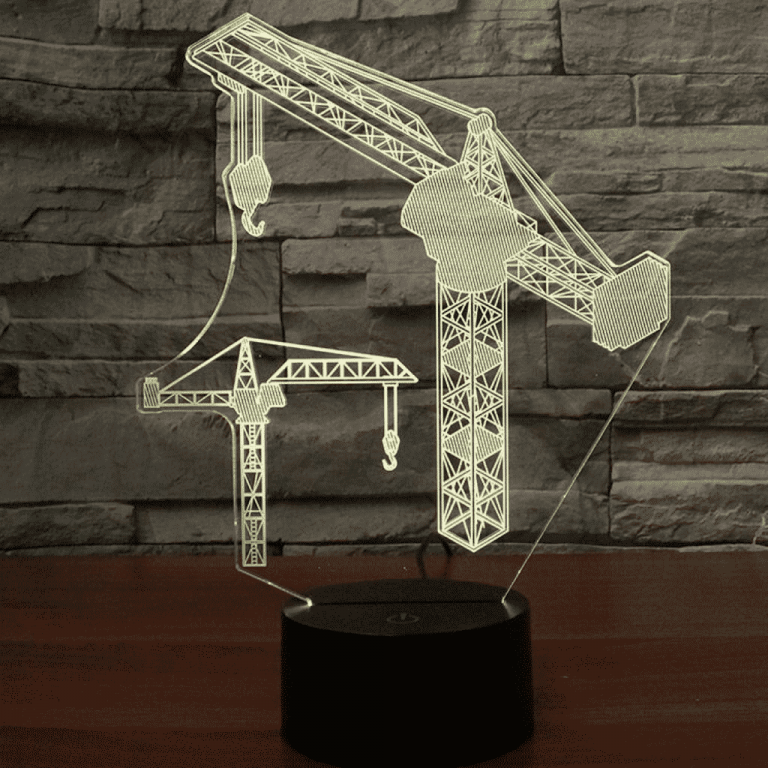 Tower Crane 3D Illusion Led Lamp
