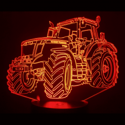 Massey Ferguson Tractor 3D Illusion Led Lamp