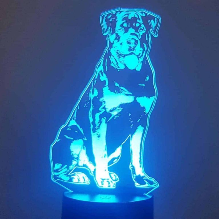 Rottweiler 3D Illusion Lamp