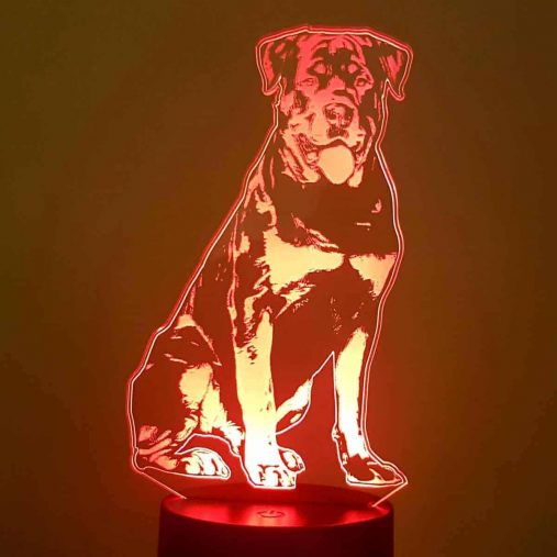 Rottweiler 3D Illusion Lamp