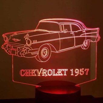 1957 Chevrolet 3D Illusion Led Lampe