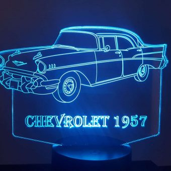 1957 Chevrolet 3D Illusion Led Lamp