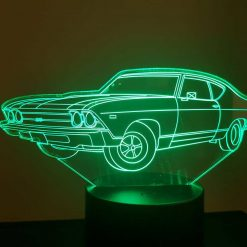 1969 Chevrolet 3D Illusion Led Lamp