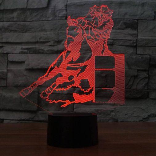 Barrel Racing 3D Illusion Led Lamp