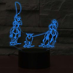 Team Roping 3D Illusion Led Lamp