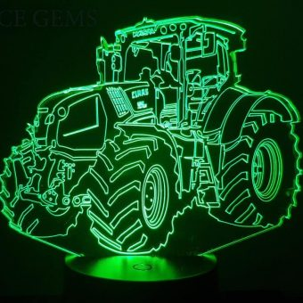 Claas Traktor 3D Illusion Led Lampe
