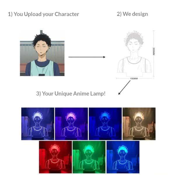 Custom Led Anime Lamp