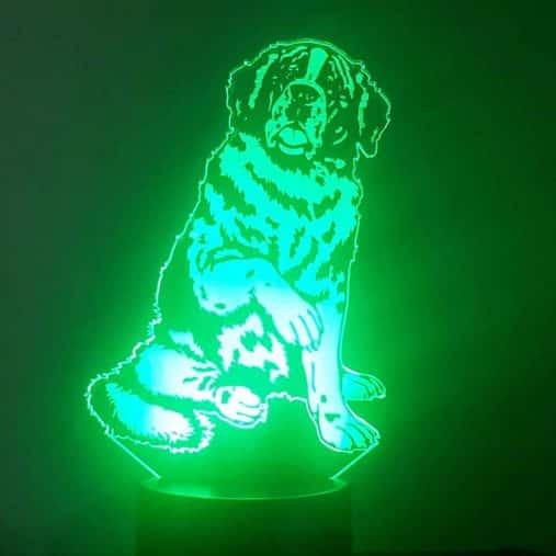 Saint Bernard 3D Illusion Lamp