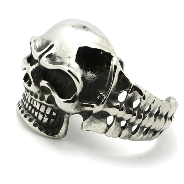 316L Stainless Steel Skull Bangle