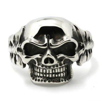 316L Stainless Steel Skull Bangle