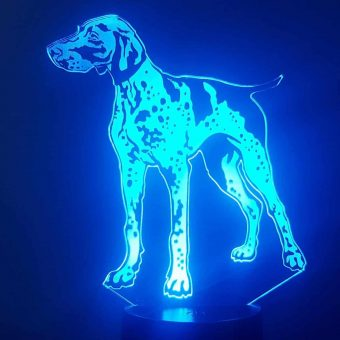 Ang German Shorthaired Pointer 3D Illusion Lamp