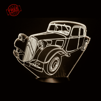 Citroen Traction Avant 3D Illusion Lamp