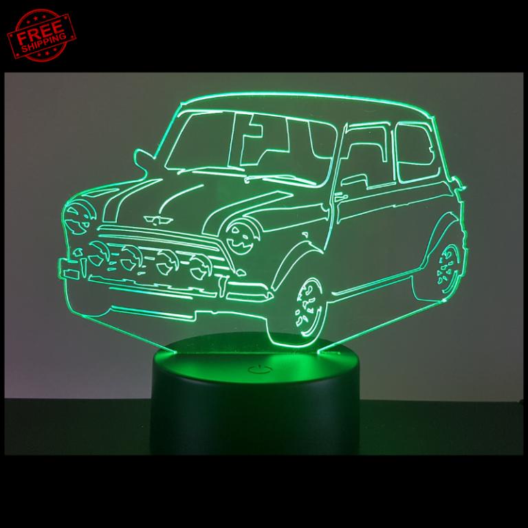 Mini Cooper 3D Illusion Lamp