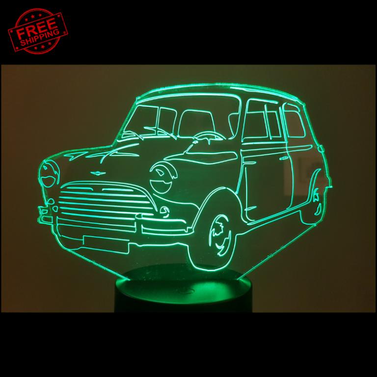 Mini Cooper S 1275 3D Illusion Lamp