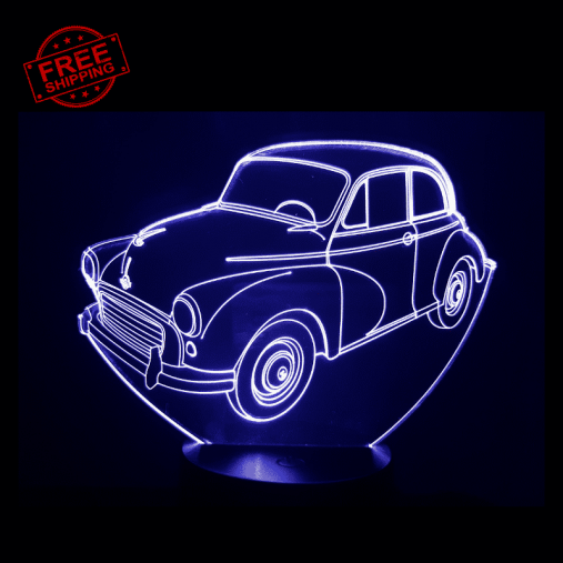 Morris Minor 3D Illusion Lamp