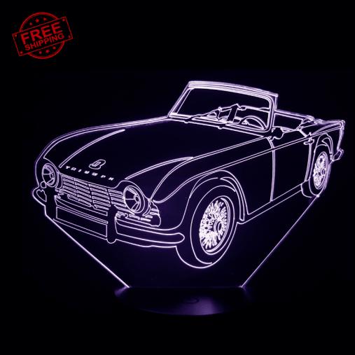 Triumph TR4 3D Illusion Lamp