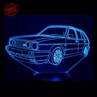 VW Golf MK2 3D Illusion Lamp