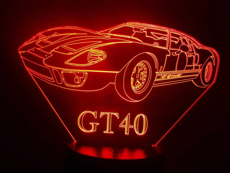GT40 3D Illusion Lamp