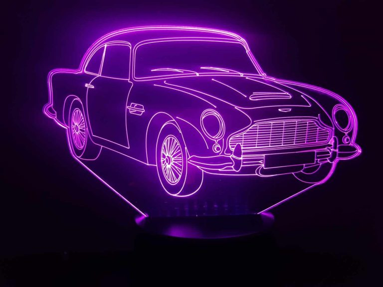 Aston Martin DB5 3D Illusion Lamp