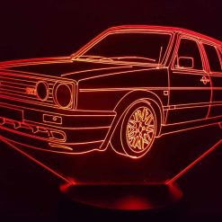 VW Golf MK2 3D Illusion Lamp