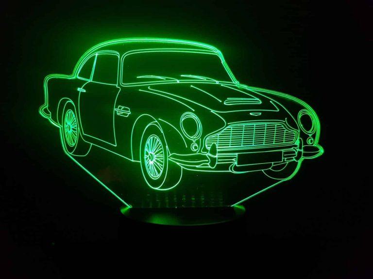 Aston Martin DB5 3D Illusion Lamp