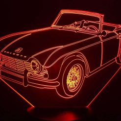 Triumph TR4 3D Illusion Lamp