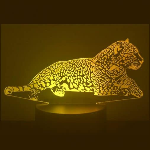 Jaguar 3D Illusion Lamp