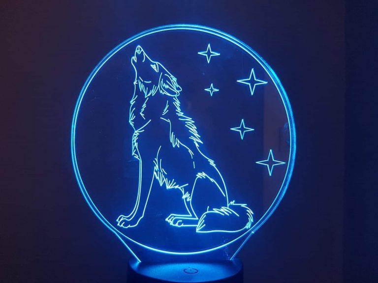 Wolf 3D Illusion Lamp