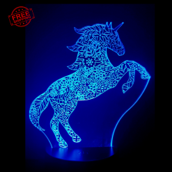 Unicorn Pattern 3D Illusion led lamp