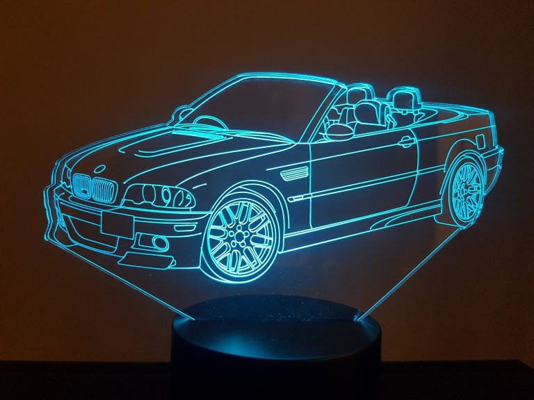 BMW M3 Cabriolet 3D Illusion Lamp