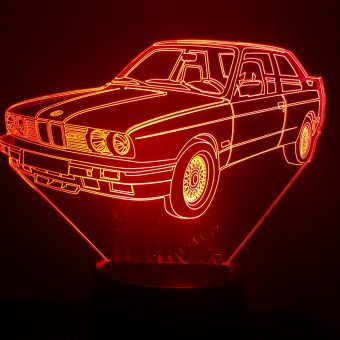 BMW M3 E30 3D Illusion Lamp
