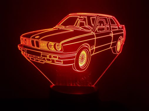 BMW M3 E30 3D Illusion Lamp