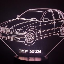 BMW M3 E36 3D Illusion Lamp