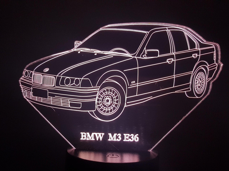 BMW M3 E36 3D Illusion Lamp